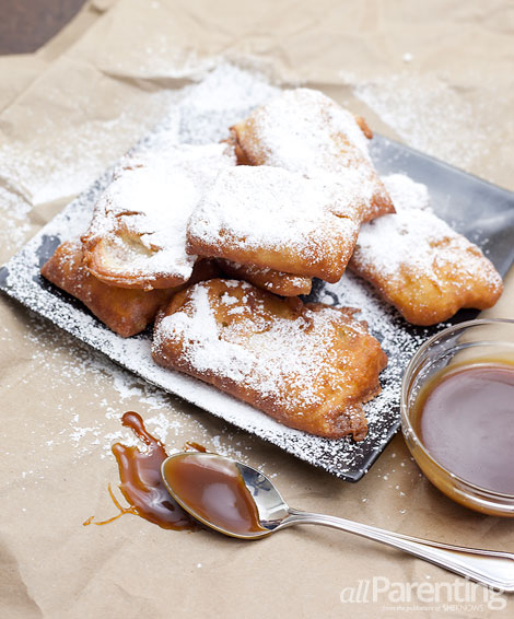 Buttermilk beignets with salted caramel dipping sauce