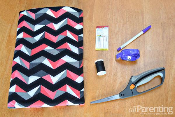 allParenting DIY maxi skirt supplies