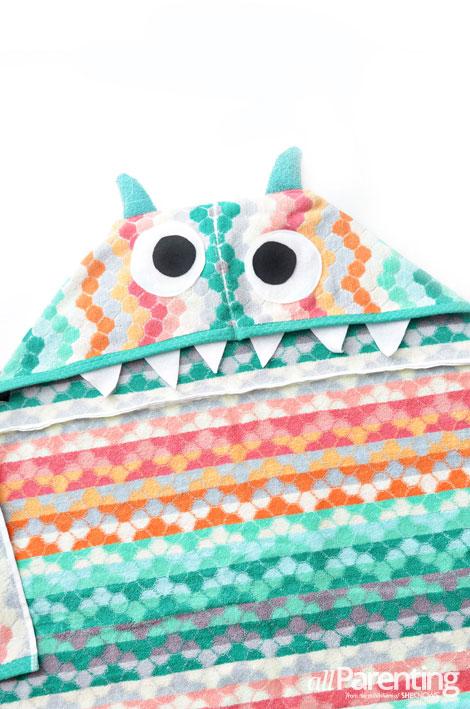 allParenting DIY monster hooded bath towel