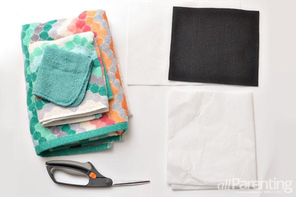 allParenting DIY monster hooded bath towel supplies
