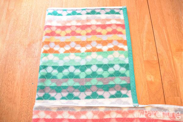 allParenting DIY monster hooded bath towel step 2