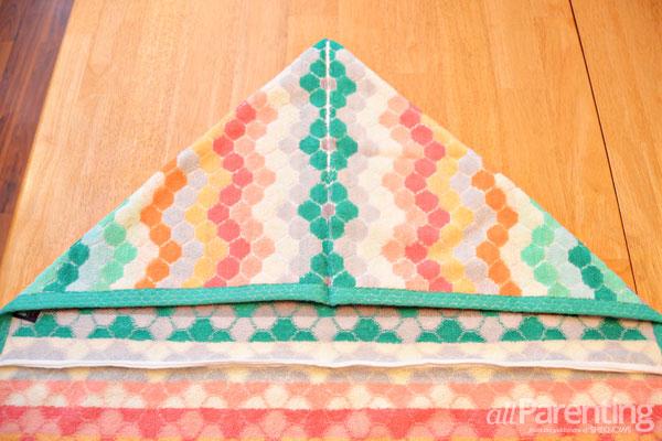 allParenting DIY monster hooded bath towel step 4
