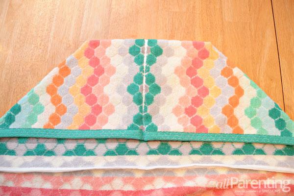 allParenting DIY monster hooded bath towel step 5