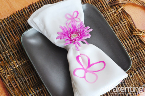 allParenting hand-decorated table linens