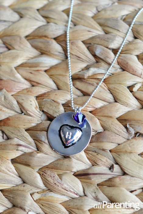 allParenting stamped Mother's Day necklace