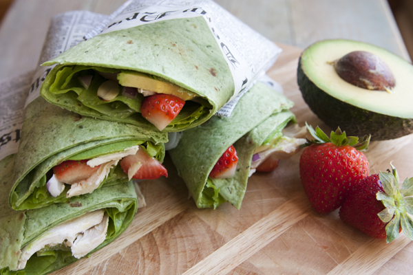 Mother's Day salads- Chicken strawberry salad wrap