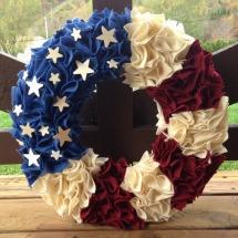 Patriotic wreaths- Patriotic felt wreath