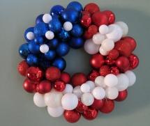 Patriotic wreaths- Ornament wreath