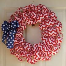 Patriotic wreaths- Patriotic ribbon wreath