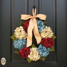 Patriotic wreaths- Hydrangea wreath
