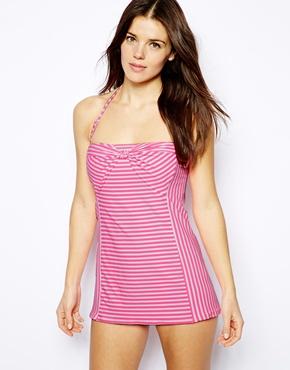 Retro inspired swimsuits- Striped swimdress