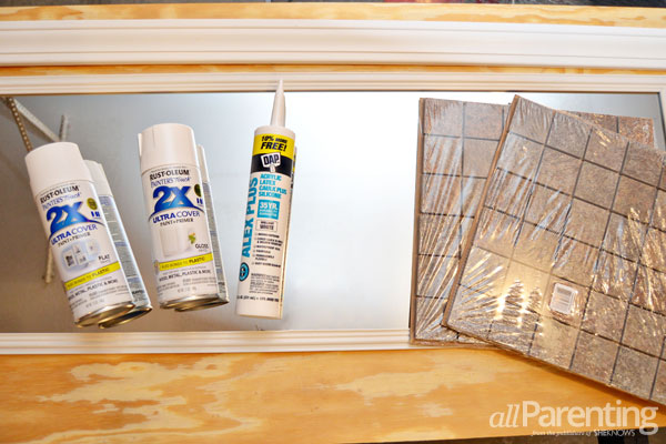 allParenting upcycled mirror supplies