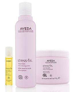 Aveda's stress-fix™ Home Spa Experience (aveda.com, $74)