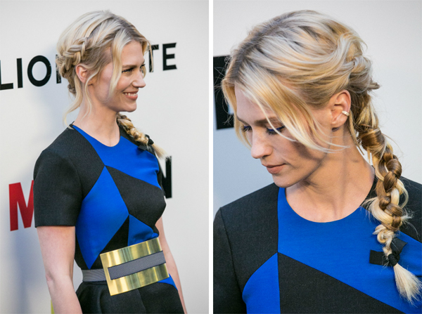January Jones' side braid