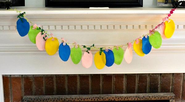 Easter egg garland craft