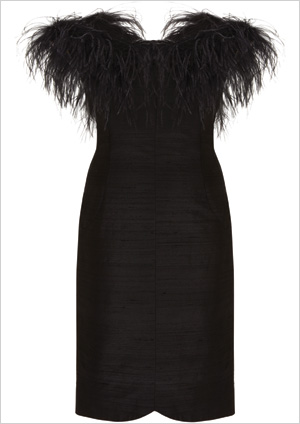 Feather Cocktail Dress ($250)