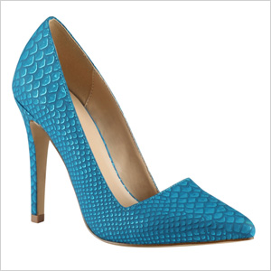 Shop the look: Call it Spring Seveven Pumps in Teal (callitspring.com, $50)