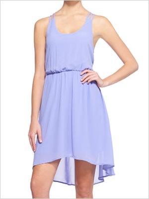 Shop the look: JustFab Lacey Chiffon Dress (justfab.com, $40 VIP price)