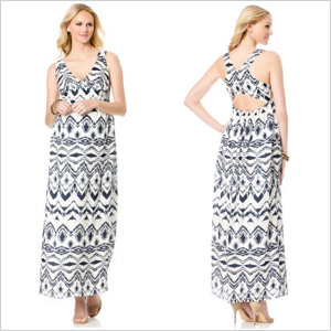 L By Jennifer Love Hewitt Sleeveless Maternity Maxi Dress (destinationmaternity.com, $158)