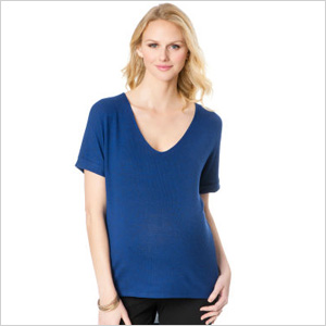 L By Jennifer Love Hewitt Short Sleeve V-neck High-low Hem Maternity T Shirt (destinationmaternity.com, $65)