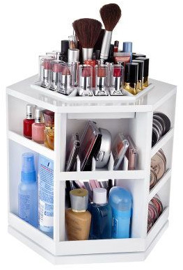 Tabletop Spinning Cosmetic Organizer by Lori Greiner (qvc.com, $30)
