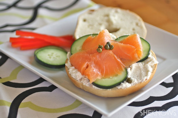 Cucumber and Smoked Salmon Sandwiches