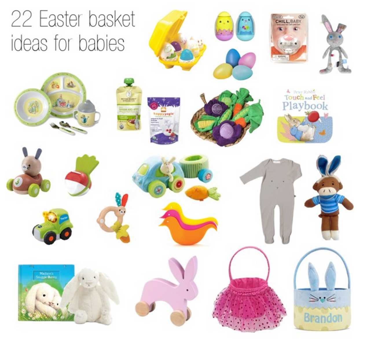 22 adorable easter basket ideas for babies easter gifts for baby negle Images