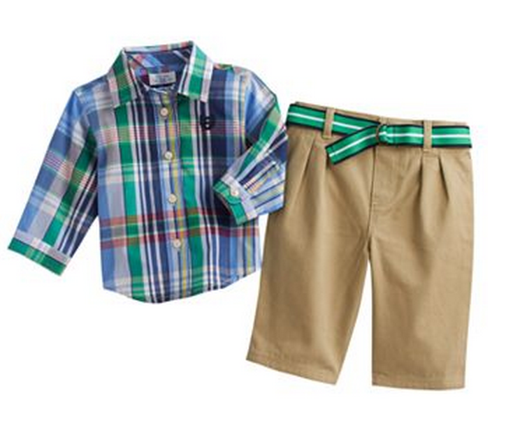 Woven shirt Easter outfit idea for boys