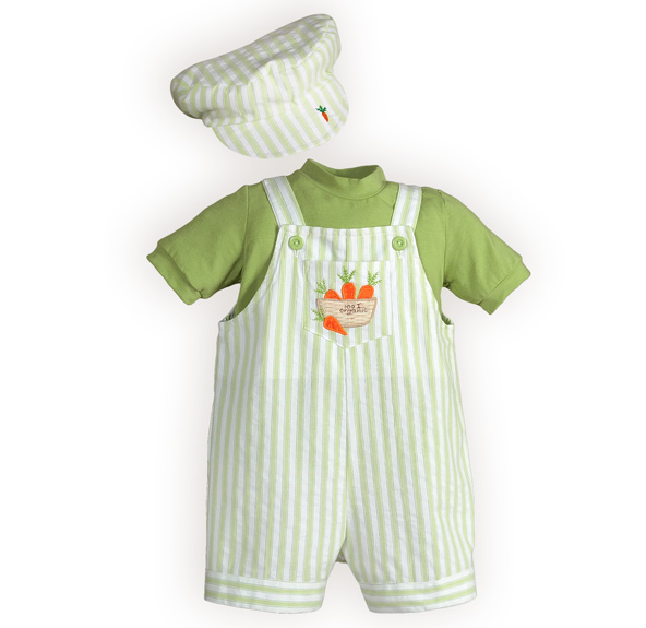 Baby boy carrot easter outfit