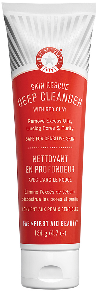 First Aid Beauty Skin Rescue Deep Cleanser with Red Clay (firstaidbeauty.com, $24)