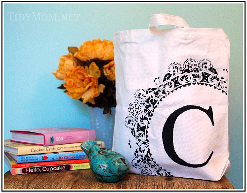 Stenciled bags