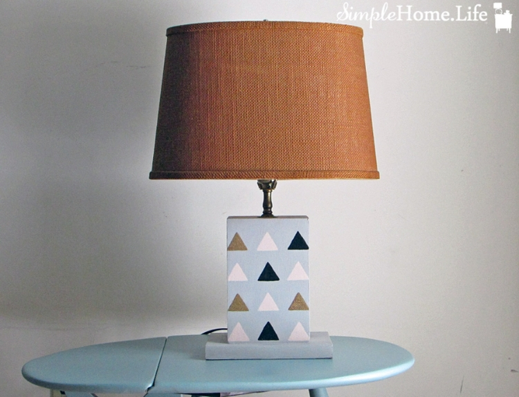 Stenciled lamps
