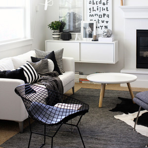 Straight stripe home decor