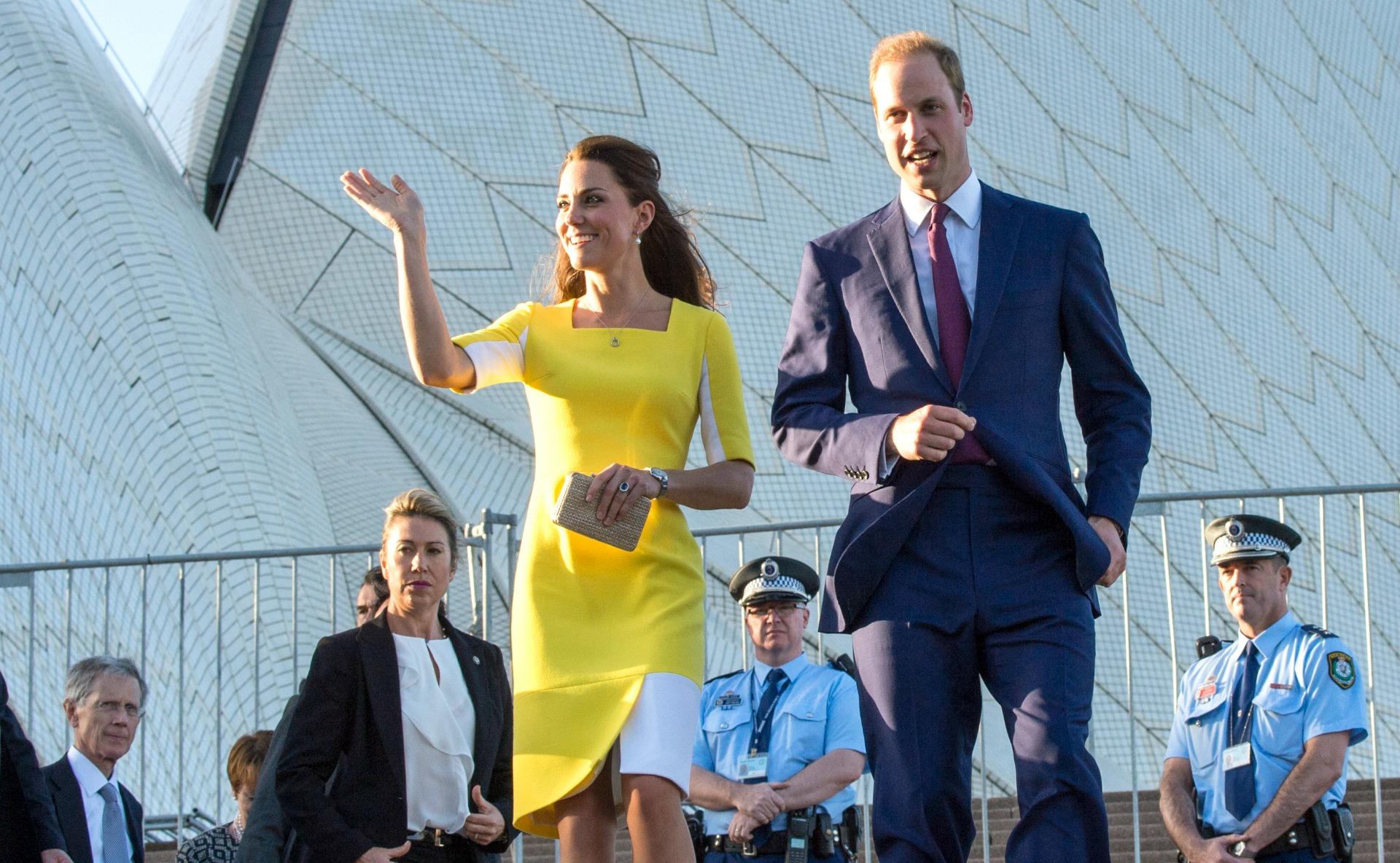 The royal family arrives in Australia