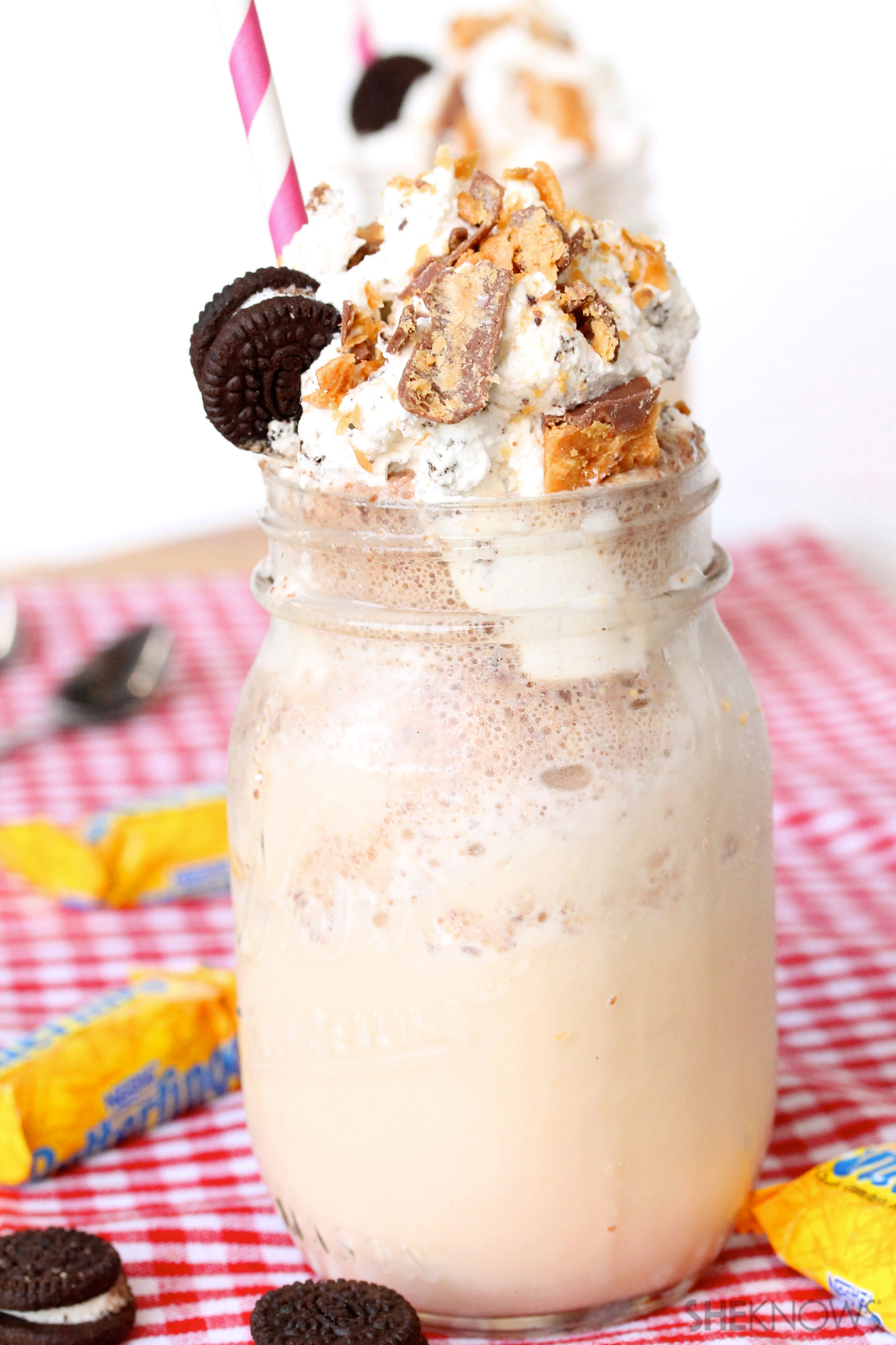 Add some crunch to your milkshake