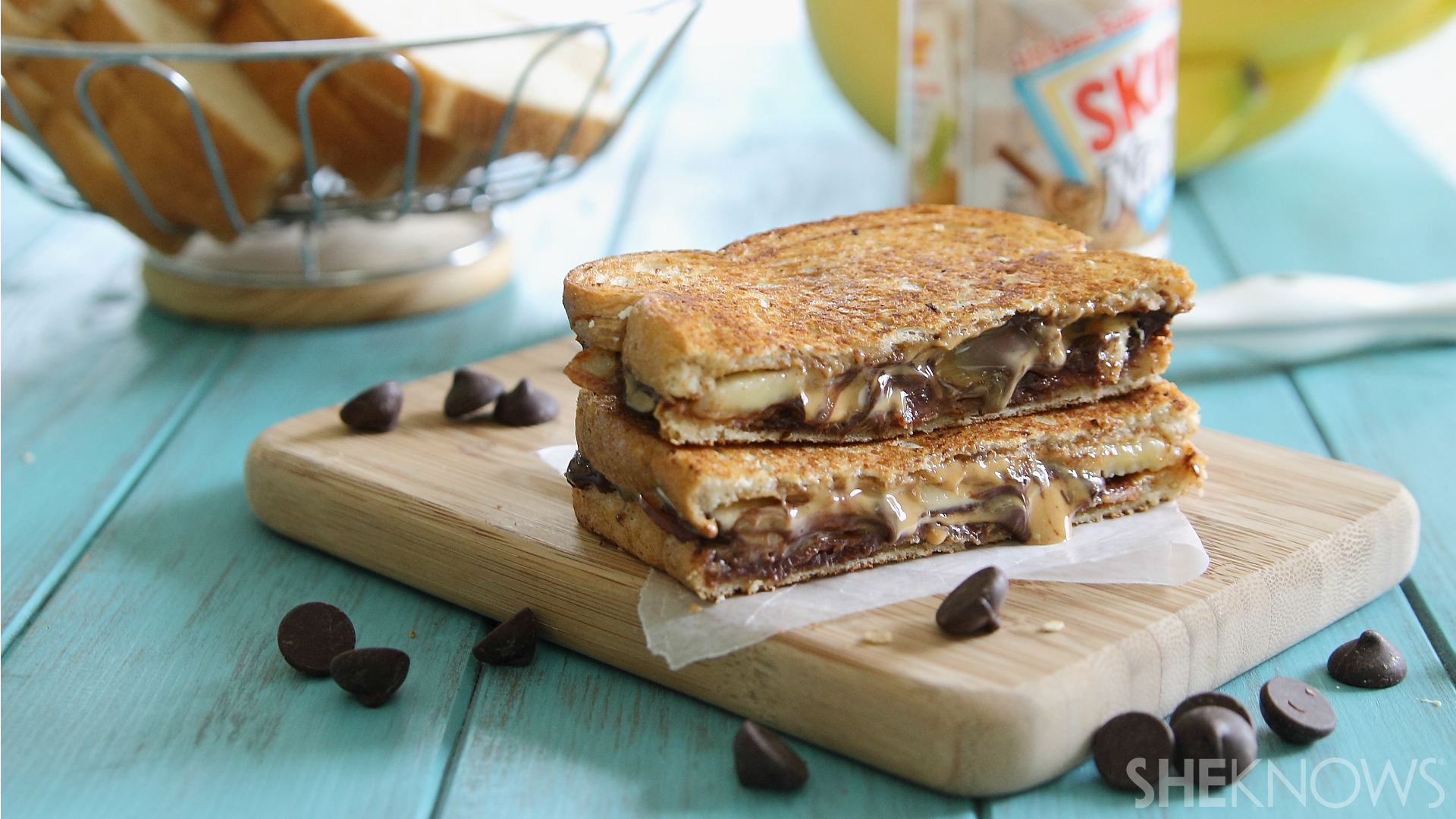 ... upped Elvis with this over-the-top peanut butter and banana sandwich