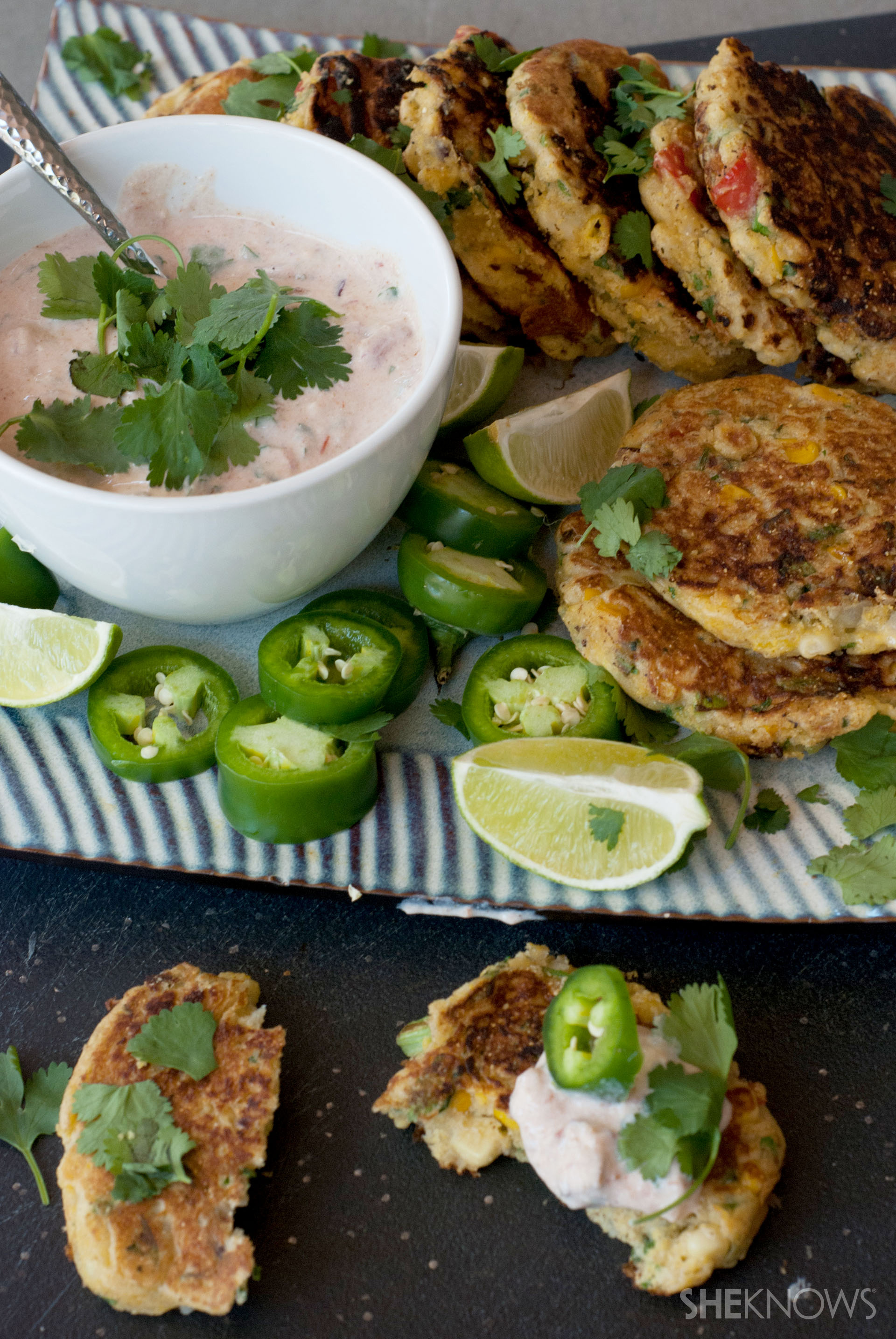 Spicy jalapeño corn fritters recipe