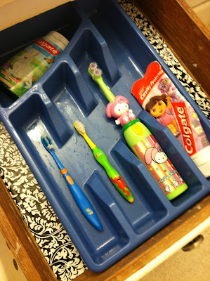 Toothbrush organization