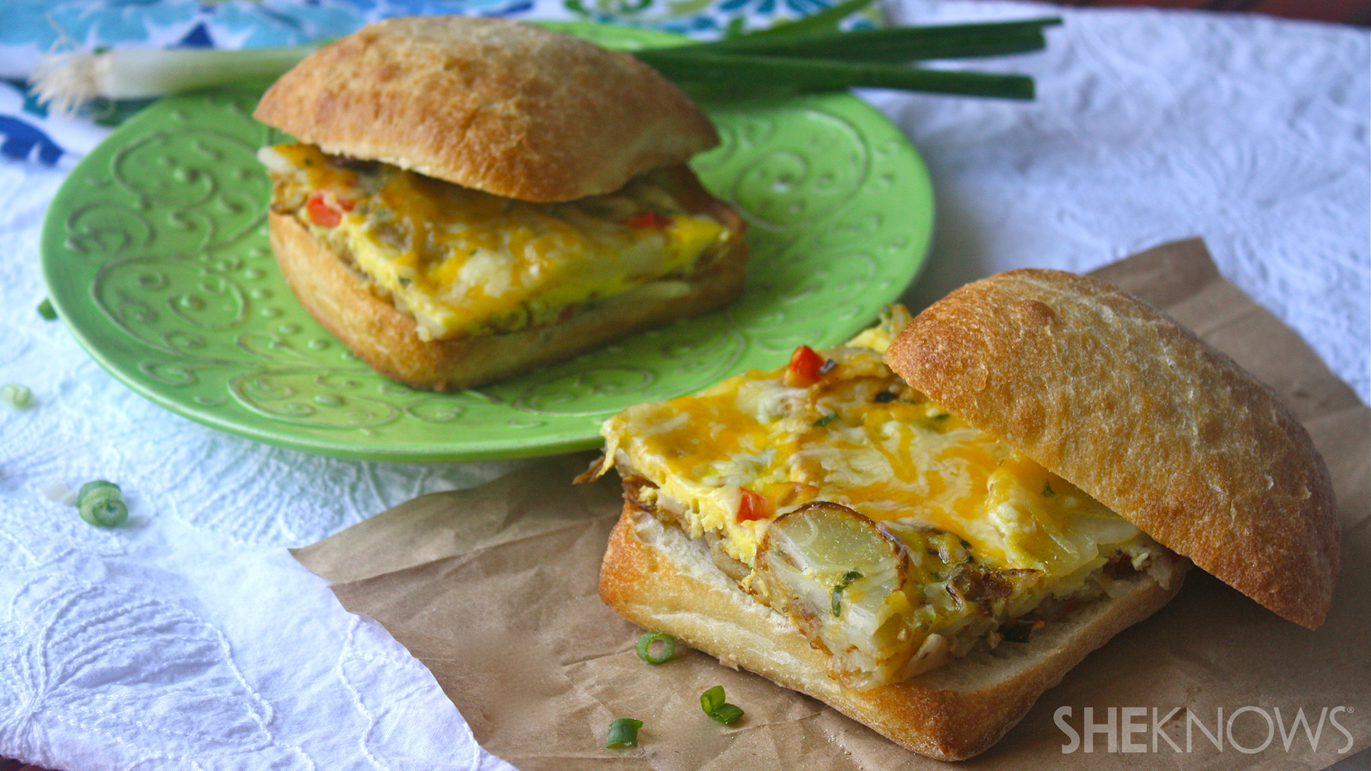Spanish omelet sandwiches