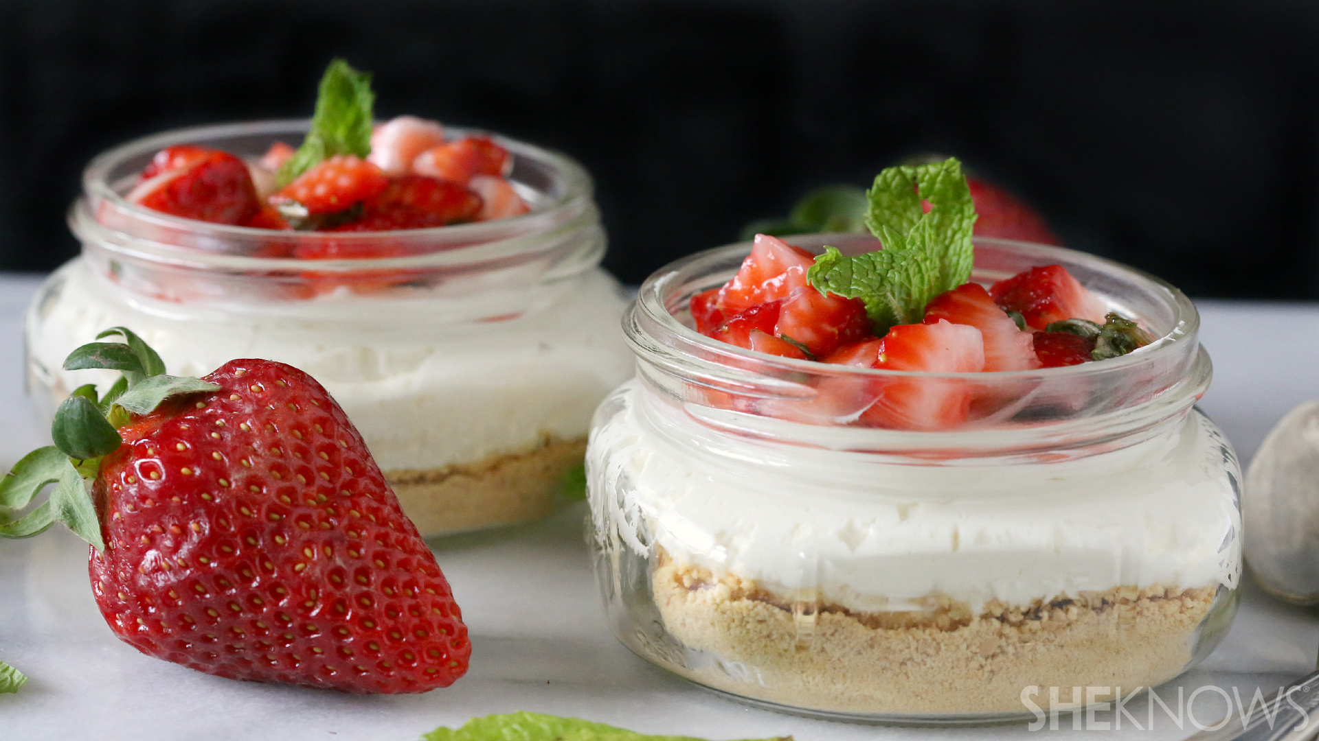 No-Bake Strawberry Cheesecake Recipe — Dishmaps