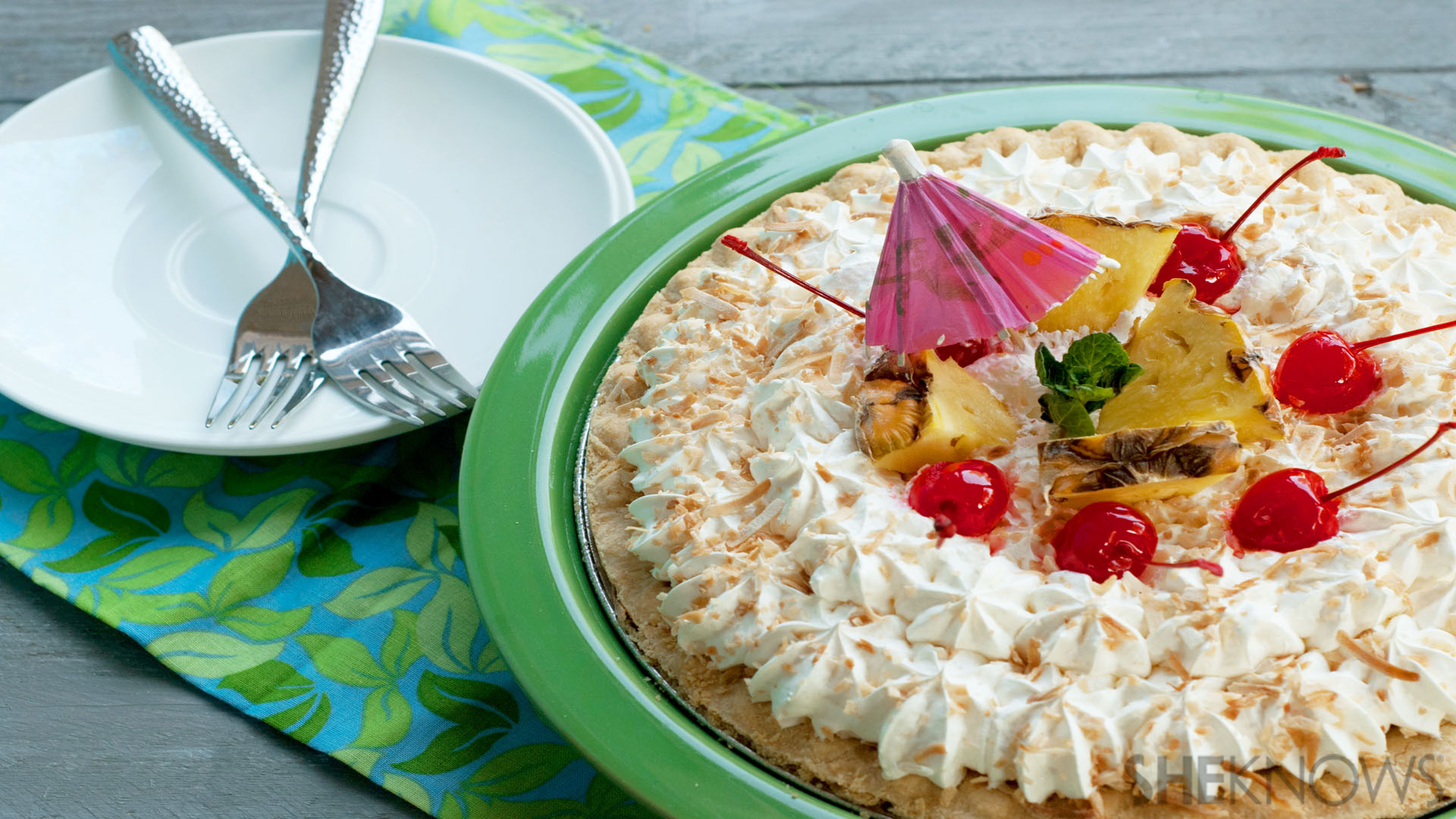 Creamy pina colada pie recipe