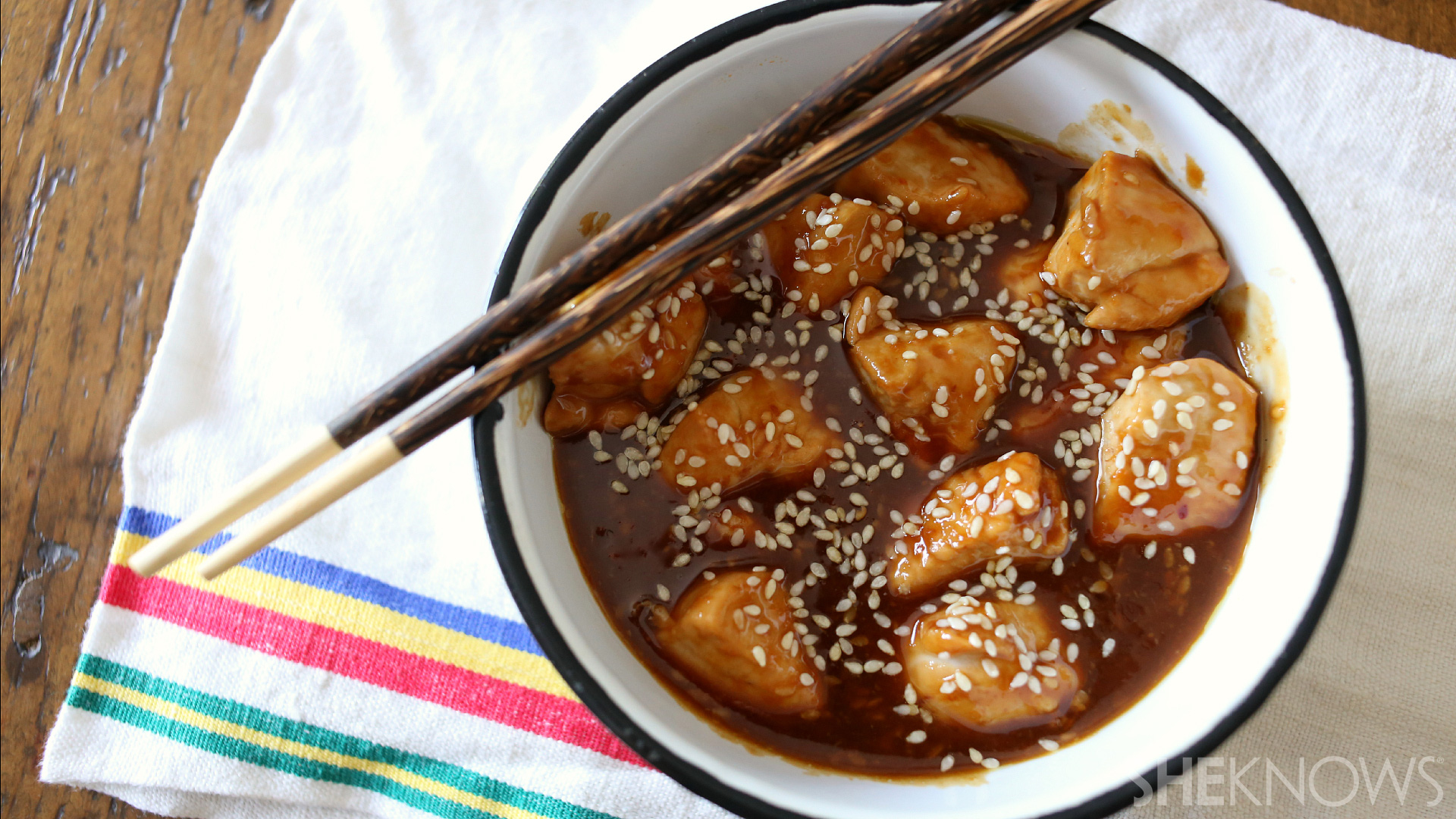 Quick and easy skillet sesame chicken