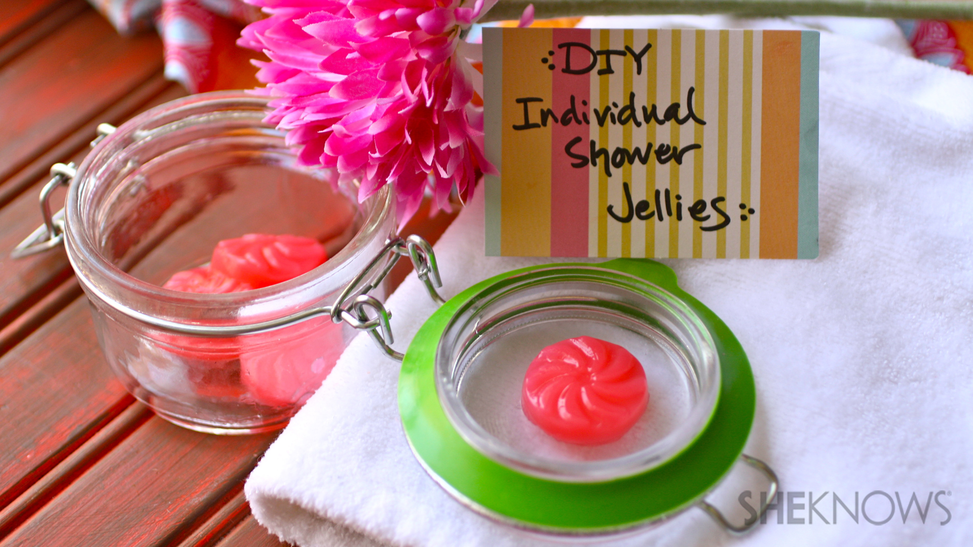 DIY Individual shower jellies