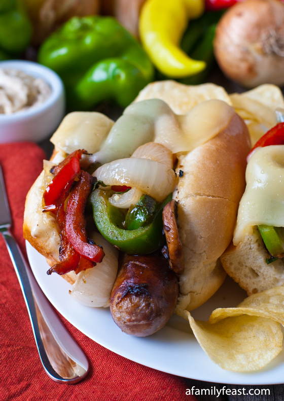 Italian sausage sub with toasted fennel aioli