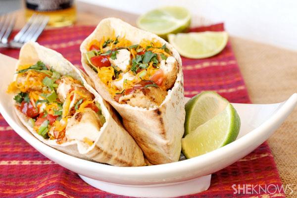 Chicken taco pitas