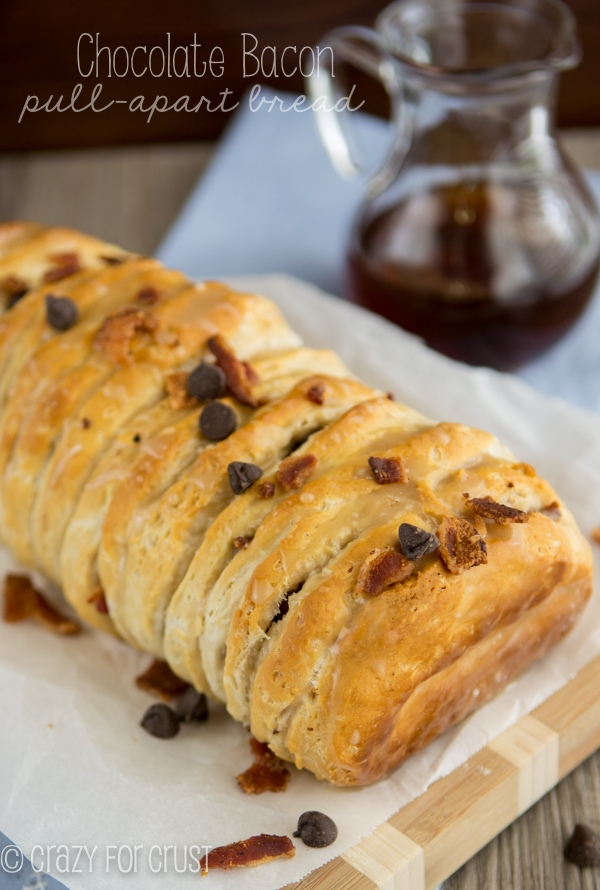 Chocolate bacon pull apart bread