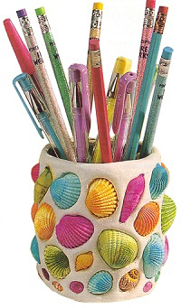 Seashell pencil holder | Sheknows.com