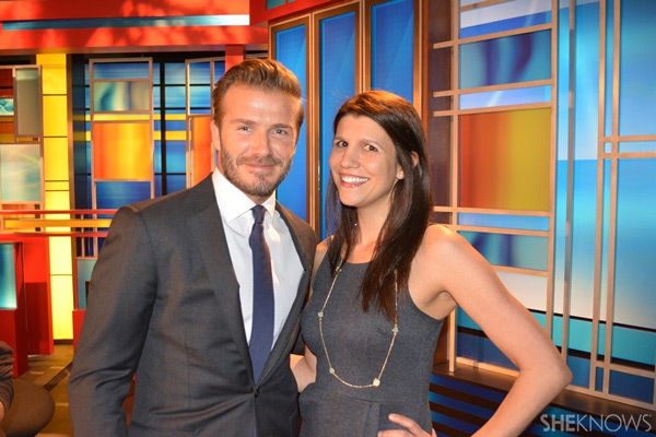 Lauren with David Beckham | Sheknows.com