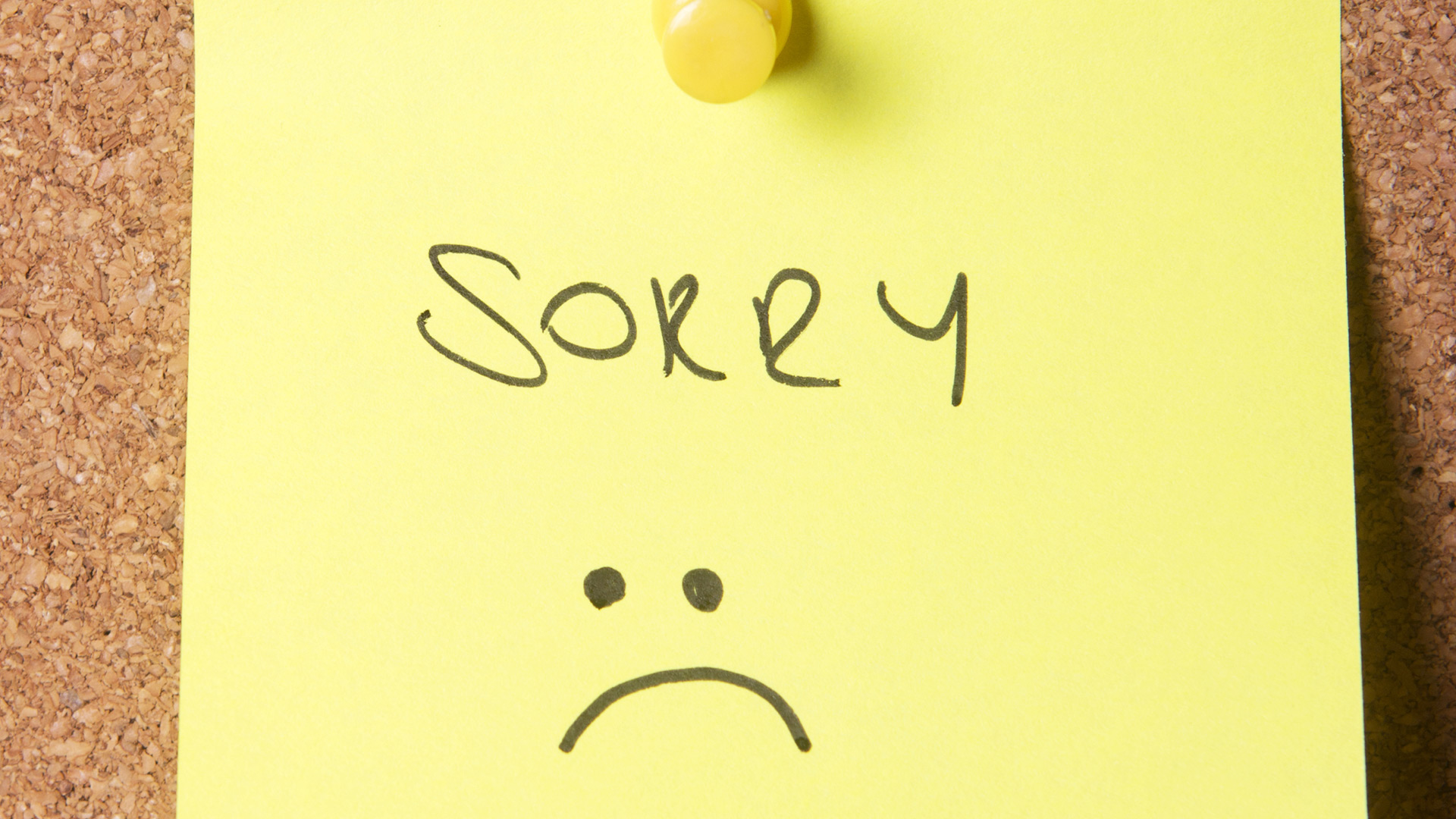 Sorry note | Sheknows.com