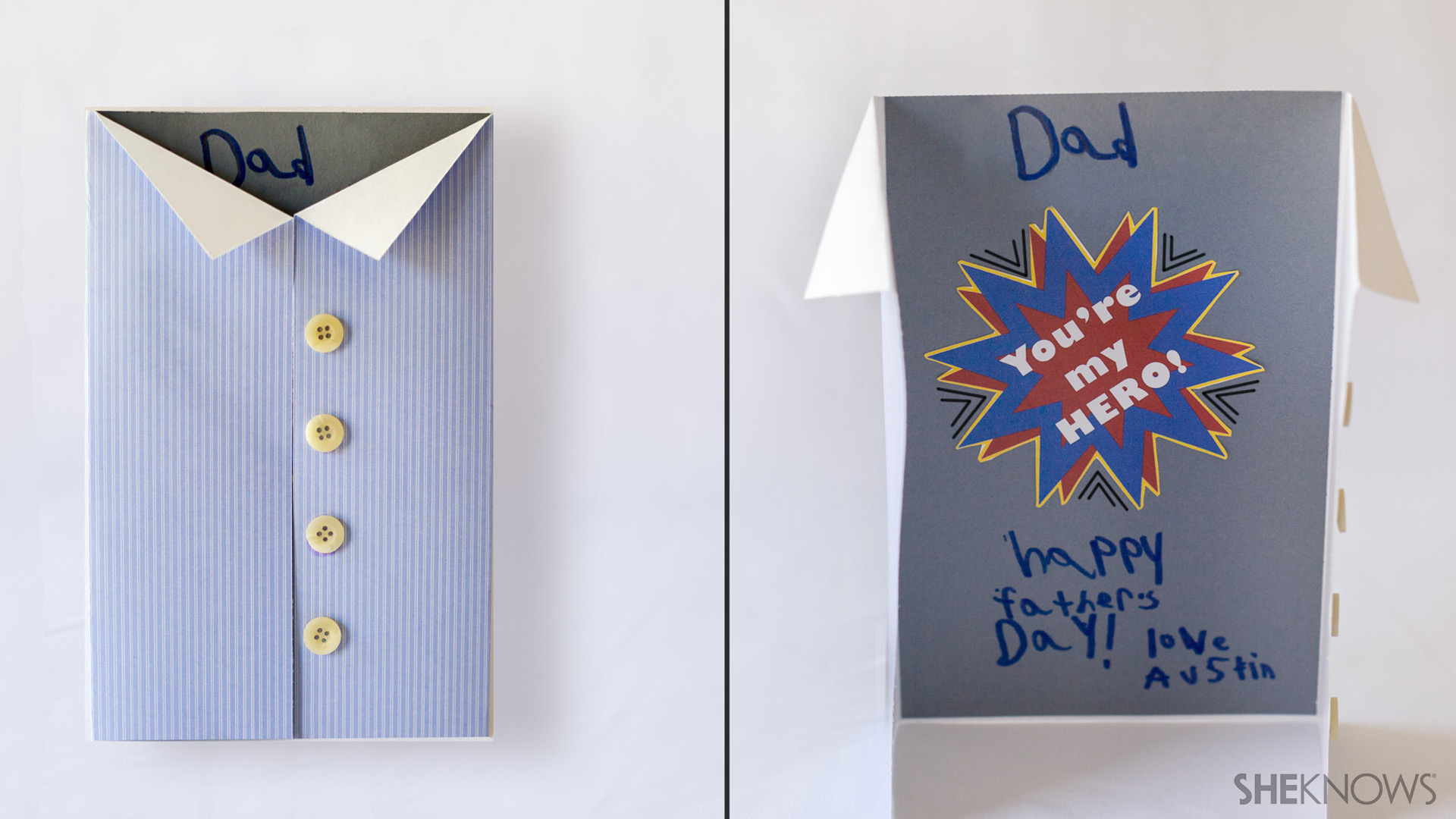 Super hero Father s Day card  Fathers Day Card Ideas